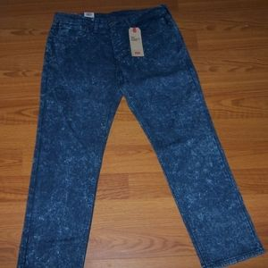 LEVI'S 541 ATHLETIC TAPER  ACID WASH JEANS  36X32